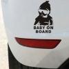 Klistermærke - Baby on board