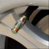 Dæktryksindikatorer til dækventil, 4 stk.